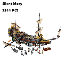 Model Building Blocks toys 16042 2344PCS Slient Mary compatible with lego Pirate Series 71042 Educational DIY toys hobbies