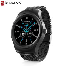 Men Hybrid Smart Watch Stainless Steel Smartwatch BOWANG R1 Business Heart Rate Waterproof Voice Control Mic IOS Android W19