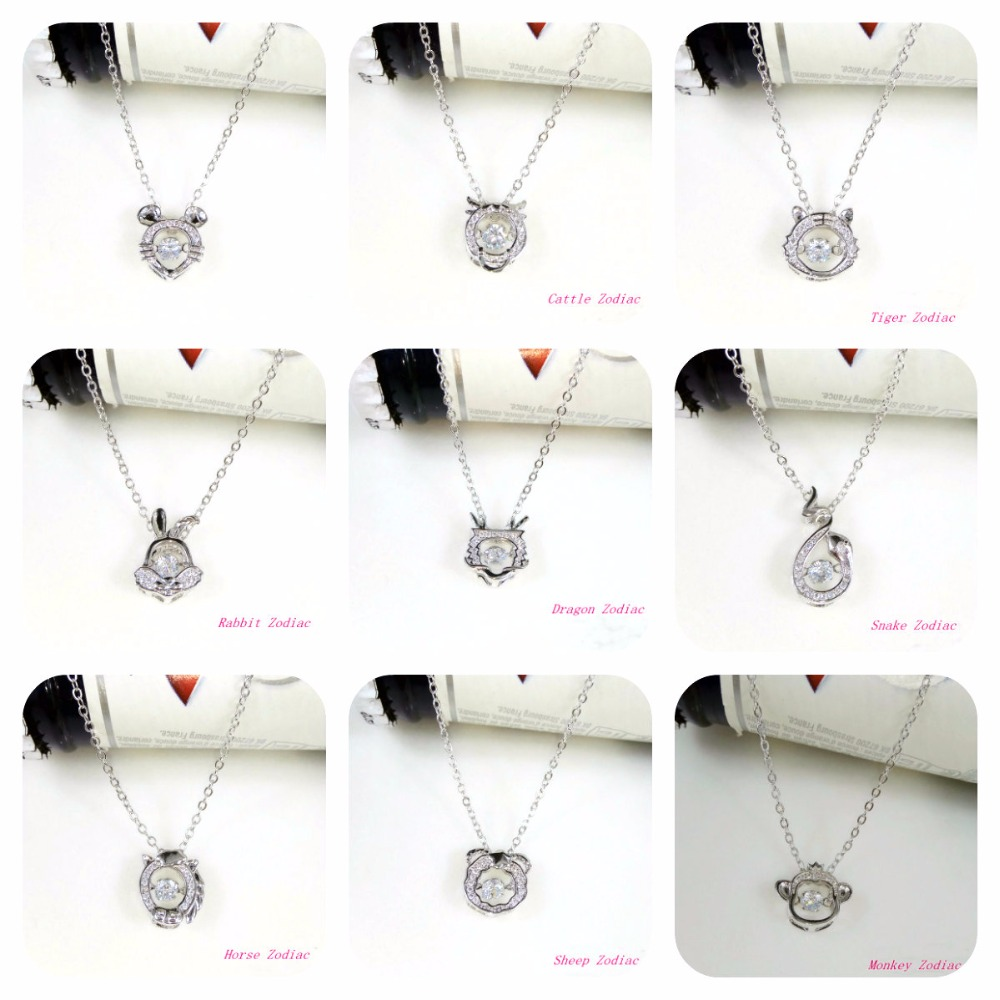 Finest High quality 925 silver Unique 12 zodiac Crystals From Austrian Pendant Necklaces Ladies Fortunate quantity Fantastic jewellery high-quality jewellery, crystal necklaces swarovski, crystal pendant necklace,Low-cost high-quality jewellery,Excessive High...