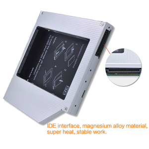TISHRIC 2018 ноутбук ODD DVD-ROM Optibay алюминиевый 2-й HDD Caddy 12,7 мм IDE на SATA 2,5 дюйма Чехол для SSD, HDD корпус