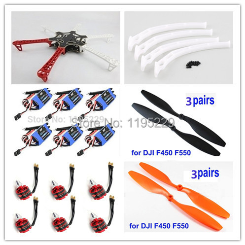 F550 ATF Hexacopter Frame Kit & DJI 920KV Brushless Motor DYS Simonk 30A ESC 2212 920kv brushless motor cw ccw 30a simonk brushless esc for f450 f550 s550 f550 quadcopter frame
