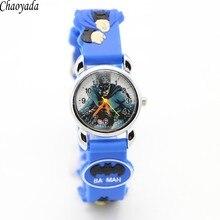 Hot sale fashion Batman Children's cartoon watches purses Students Kids  silicone quartz watch cute boy wristwatches