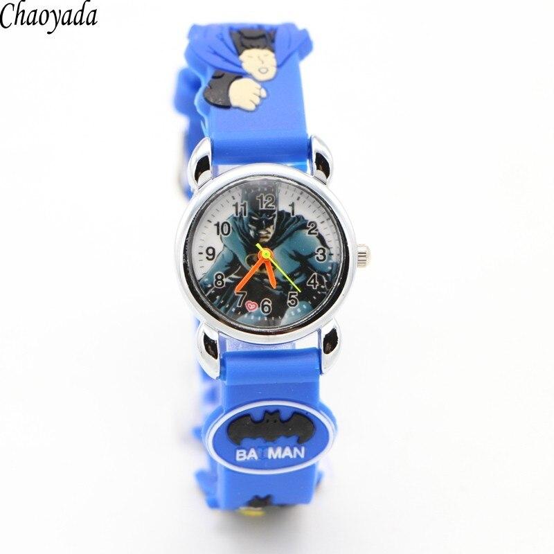 Hot sale fashion Batman Childrens cartoon watches purses Students Kids silicone quartz watch cute boy wristwatches