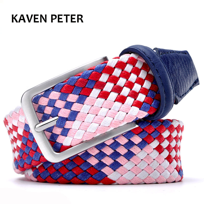 2017 Fashion Lovers Braided Belt Men And Women Style 1-3/8 Wide Without Holes Cotton Weave Pipe Strong Belts From 23 to 60