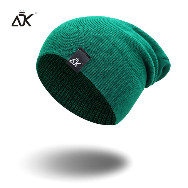 Cotton Blends Hip Hop Beanies For Girl Winter Cap Label Knitted Hat Female Unisex Solid Color Bonnet Casual Slouchy Skullies 1