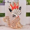 Magia Ikery Oro Plateado Rhinestone Cristalino De Moda Fox Llaveros bolsa colgante Al Por Mayor de Joyería de Moda para las mujeres MKCH2068
