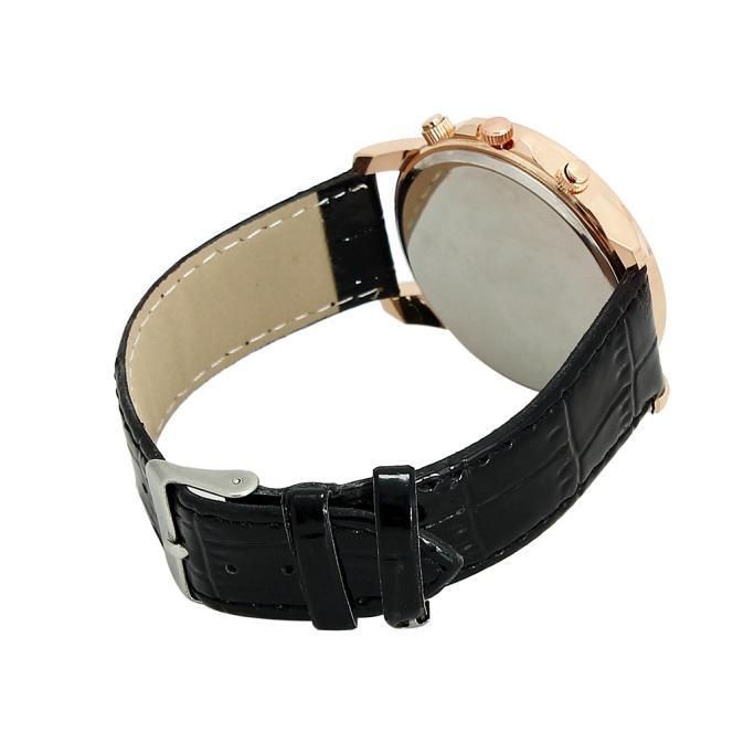 Geneva Leather Quartz Watch