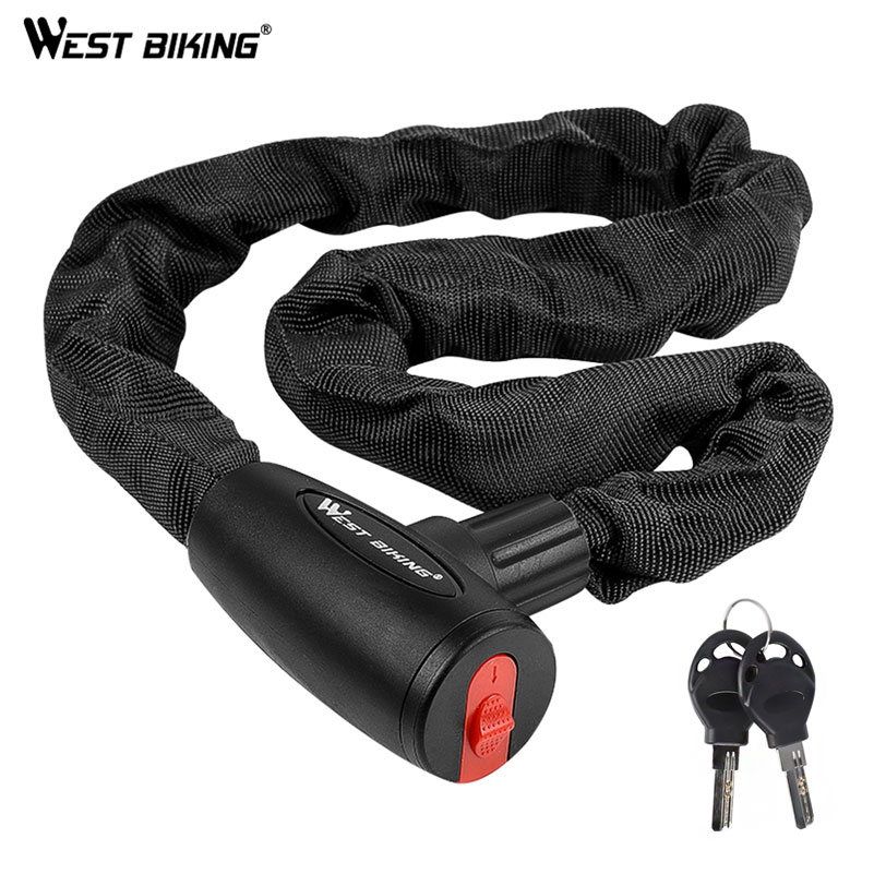 Bicycle-Lock Cycling-Chain Anti-Theft-Bike Security-Reinforced Motorcycle Steel West-Biking