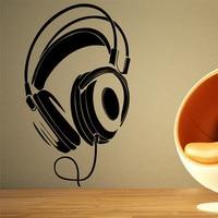 E53 Audio Mural Design MICROPHONE Headphones Hand Up Music DJ Pulse Sign Studio Wall Stickers Home