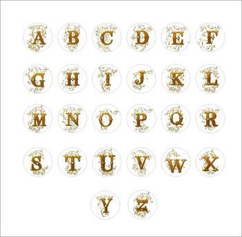 20mm Alphabet snap button jewelry  for bracelet    26pcs/lot   ODM,OEM  ZM301 snap button jewelry