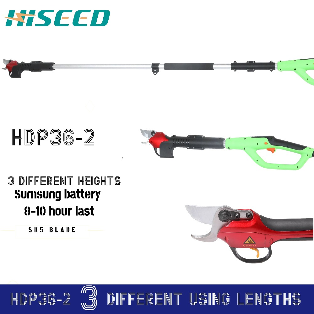 US $610 0 |CE electric long pole pruners telescopic pruning shears for  fruit tree and garden (German blade)-in Electric Scissors from Tools on