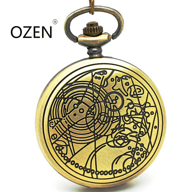 (1042) 12pcs/lot DW doctor who desgin Necklace Engraved Quartz Pocket Watch, Dia