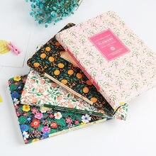 Nova chegada bonito couro do plutônio floral flor agenda livro diário semanal planejador caderno escola material de escritório kawaii papelaria