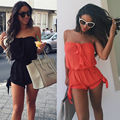 Womens Celeb Sexy Mini Playsuit Ladies Jumpsuit Summer Shorts Beach Sun enteritos cortos mujer 2016
