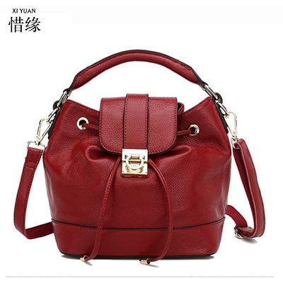 XIYUAN BRAND Herald Fashion Leather Women big Messenger Shoulder Bag Large Capacity Totes Famous Brand Bolsa Feminina Burgundy