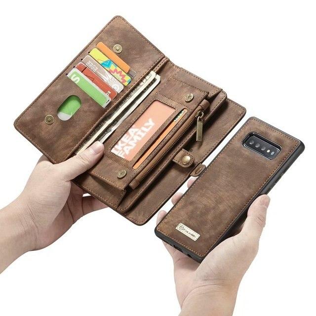 Ví Dây Ốp lưng Điện thoại Samsung Galaxy S10 Plus S10e coque Da Cao Cấp Sang Trọng Fundas Etui Bảo Vệ Có túi xách Phụ Kiện