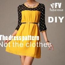 Одежда DIY платье платья швейная Выкройка Платья шитье шаблон BLQ-33