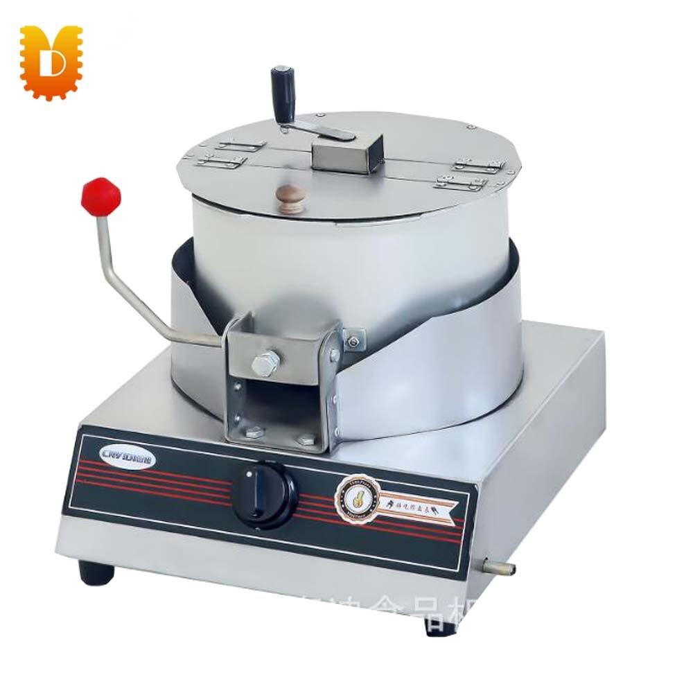 UD-015 convenient  desktop hand-operated aluminum popcorn machine