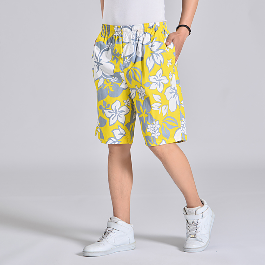 Floral Print Shorts Men Elastic Waist Beach Board Plus Size Man Swimwear Short Masculino Praia  Activewear Mens Shorts Sea 6d020 4