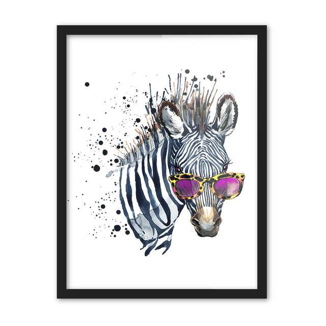 Online Shop Suluboya Hayvanlar Kafa Zebra Aslan Buyuk Tuval Sanat