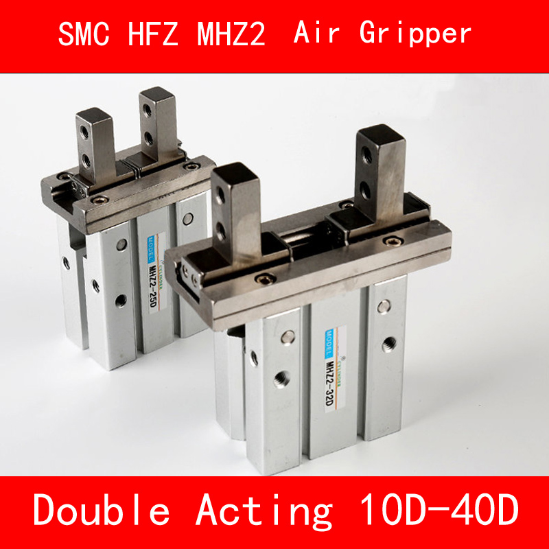 HFZ MHZ2 10D 16D 20D 25D 32D 40D Double Acting Air Gripper Pneumatic Finger smc cylinder Aluminium Clamps Bore 10-40mm mhz2 10d parallel style air gripper cylinder double acting sns pneumatic parts finger air claw