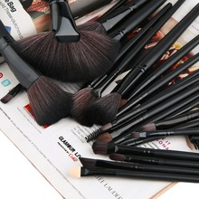High Quality 24Pcs Cosmetic Brush Foundation Powder Eyeshadow Brushes Set Professional Black cool  fashion style
