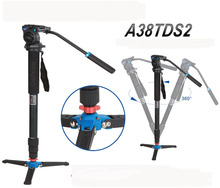 Free Shipping Benro A38TDS2 Professional Monopod For Photo Video / Especial Bird Watching & Head for DSLR Camera