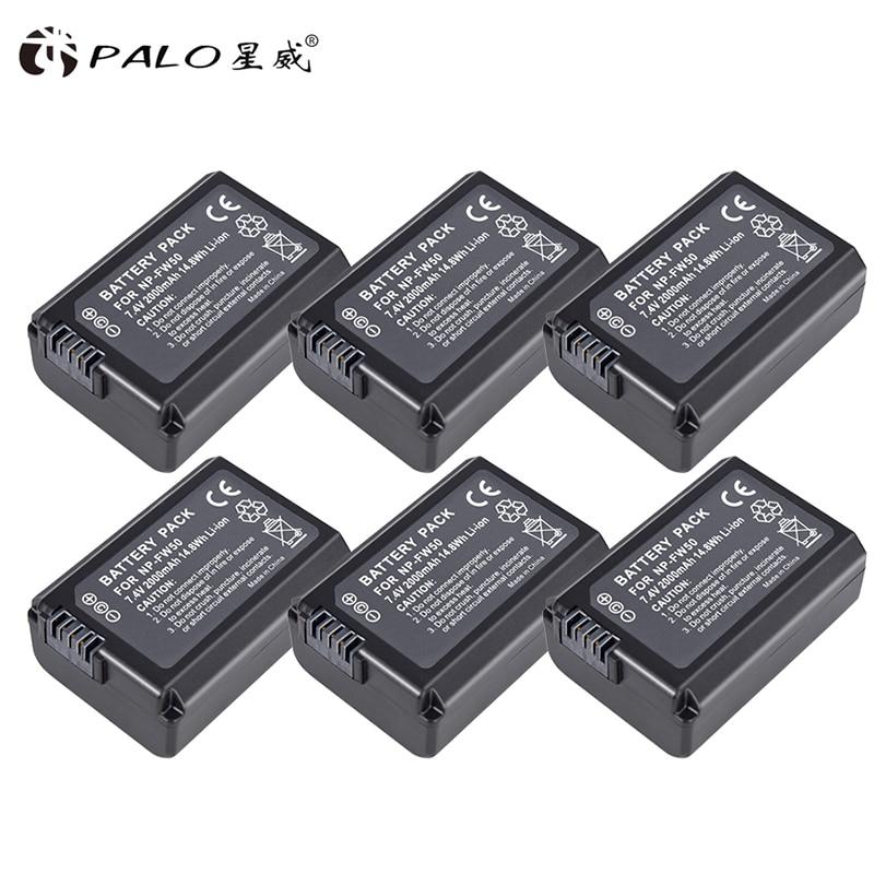 Palo 4 Pcs Np-fw50 Kamera Batterie Npfw50 Np Fw50 Für Sony A5000 A5100 A7r Nex5 5r 5n A6000 A7 Nex6 Nex7 Nex5r Nex5n Digital Batterien Batterien