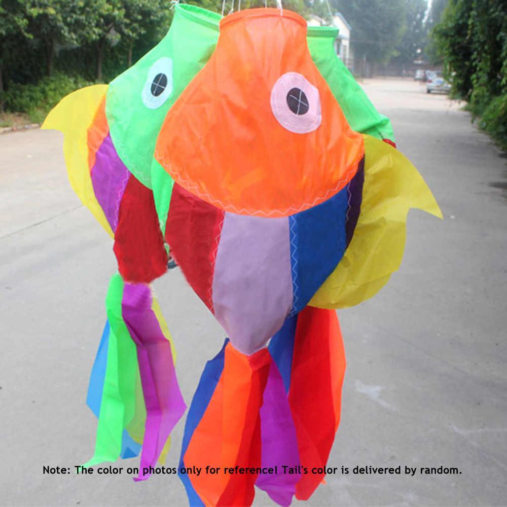 Оптовая продажа рыбы воздушных змеев Спорт на открытом воздухе игрушки для детей 70 см Длина многоцветный 3D воздушных змеев милый рыба-тип кайт аксессуары 2018 Новый