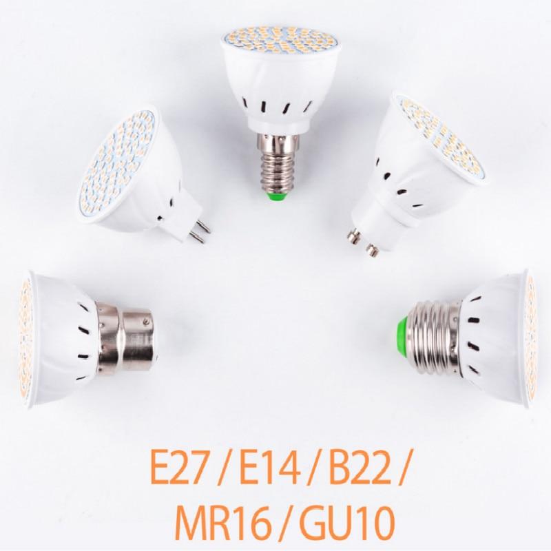 220v led gu10 e27 e14 b22 mr16 48beads 60beads 80beads 5pcs/lot free shipping