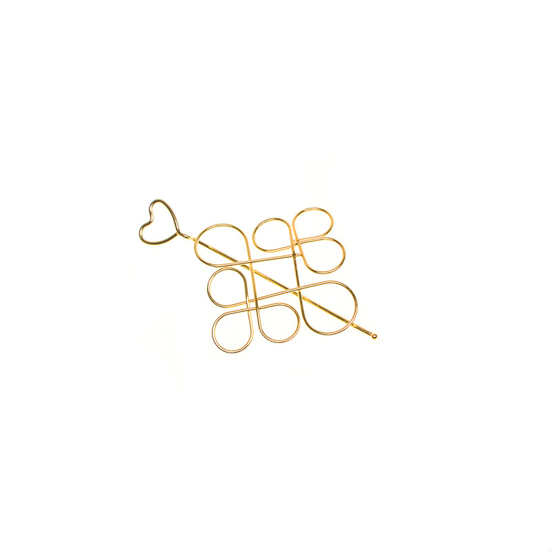 Fashion Hair Accessories Classic Heart Hairpin Chinese Knot Hollow Flower Chinese Knot Hair Sticks Clips for Women Jewelry in Hair Jewelry from Jewelry Accessories