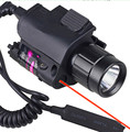 2in1 Tactical CREE LED Flashlight/LIGHT+Red Laser/Sight Combo for Shotgun Glock 17 19 22 20 23 31 37