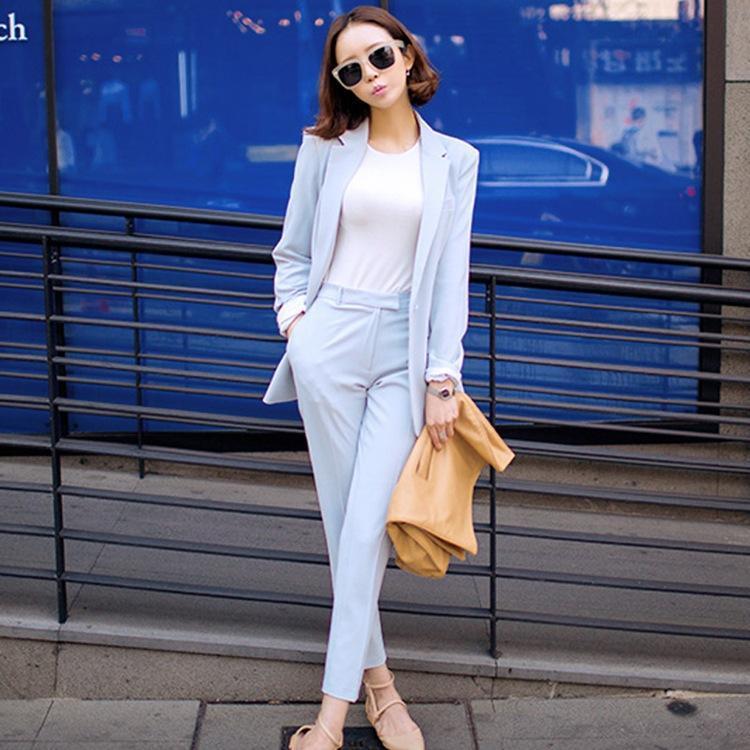 Spring Newon Fashion Women S Leisure Suit Soild Color Suit