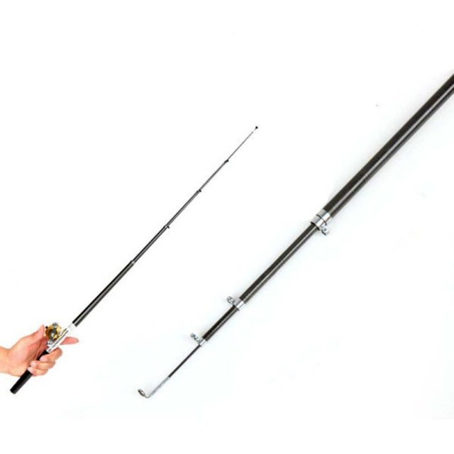 Portable Pocket Telescopic Mini Fishing Pole With Reel 5