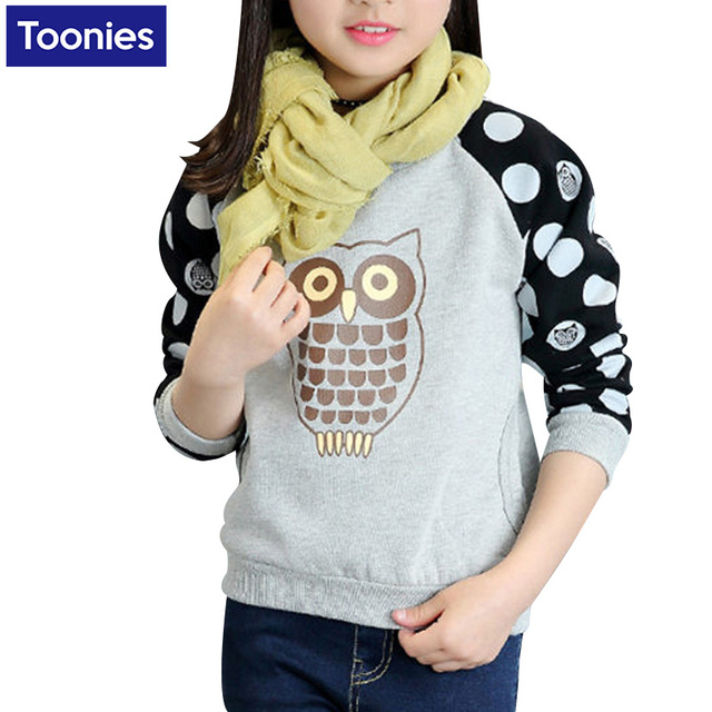 2017 Winter Teenage Girls T Shirt Thicken Fleece Girls Outwear Sweatshirt Kids Children Warm Clothes Long Shirt For Teens