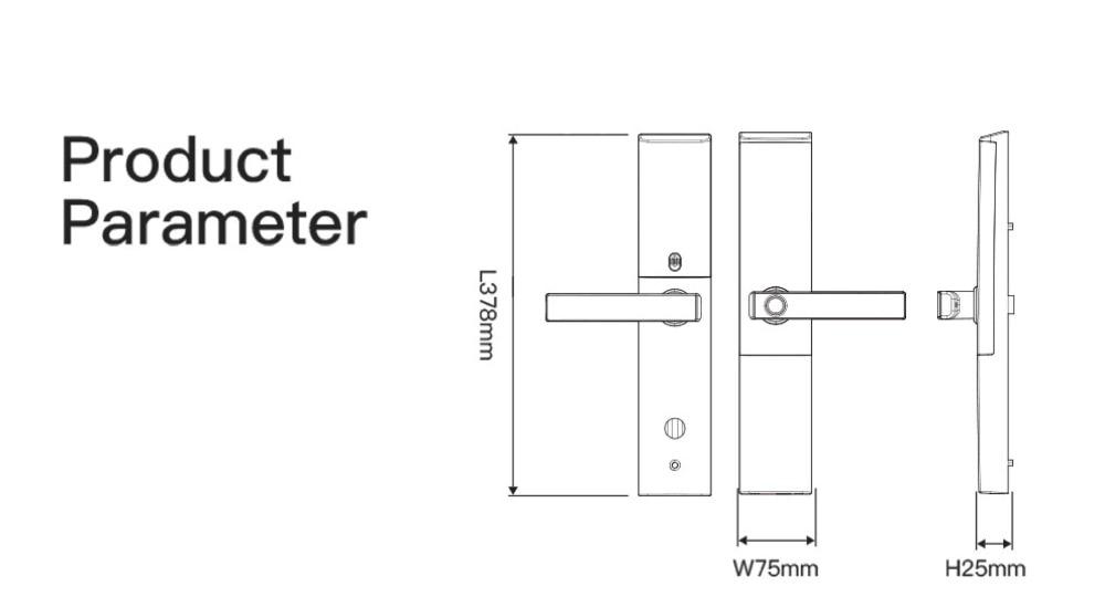 HTB1Thq2tMHqK1RjSZFgq6y7JXXaK WiFi Fingerprint Door lock, Waterproof Electronic Door Lock Intelligent Biometric Door Lock Smart Fingerprint Lock With App