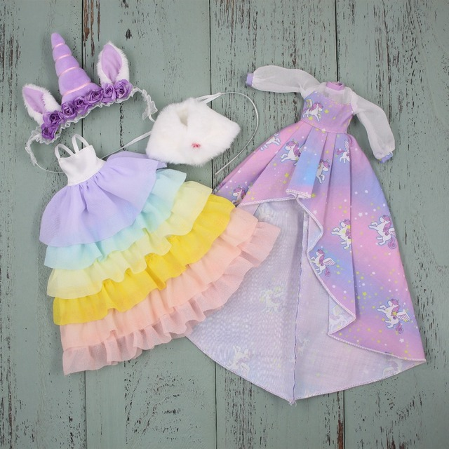 DBS blyth doll icy dress suit unicorn clothes toys fits licca bodyDolls Accessories