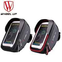 WHEEL UP Bike Bicycle Phone Bag Rainproof Microfiber Touch Screen Cell Phone Holder Bicycle Handlebar Bags