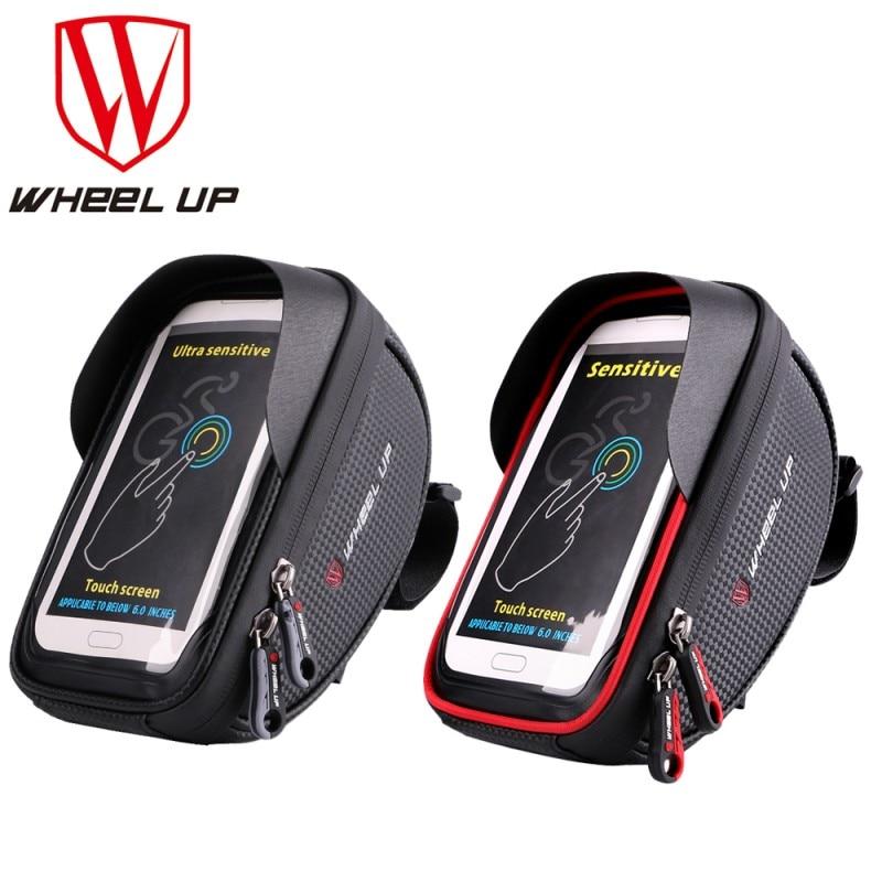 WHEEL UP Bike Bicycle Phone Bag Rainproof Microfiber Touch Screen Cell Phone Holder Bicycle Handlebar Bags MTB Frame Pouch Bag pochette étanche pour téléphone