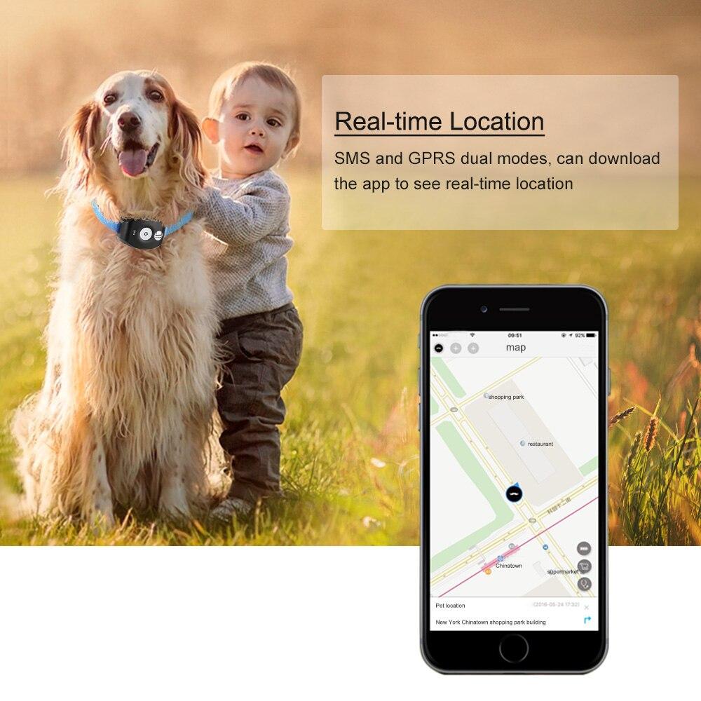 Waterproof Mini GPS <font><b>Dog</b></font> Collar <font><b>Tracker</b></font> Locator for Kids Children Pets Cats Animal Vehicle Free APP for iOS/Android Web Tracking