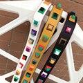 Colorful rivet handbags belts women bags strap women bag accessory bags parts pu leather icon bag belts 2 color