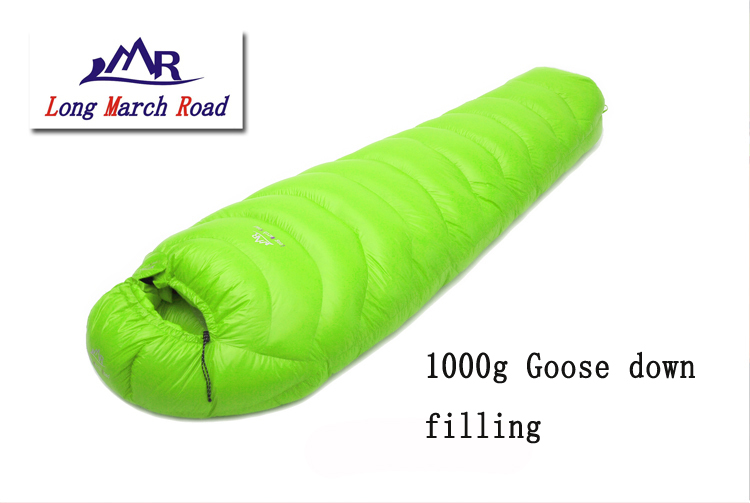 LMR goose down 1000G filling outdoor camping splicing mummy ultra-light down sleeping bag filling 3000g outdoor camping winter sleeping bag goose down splicing mummy ultra light goose down sleeping bag