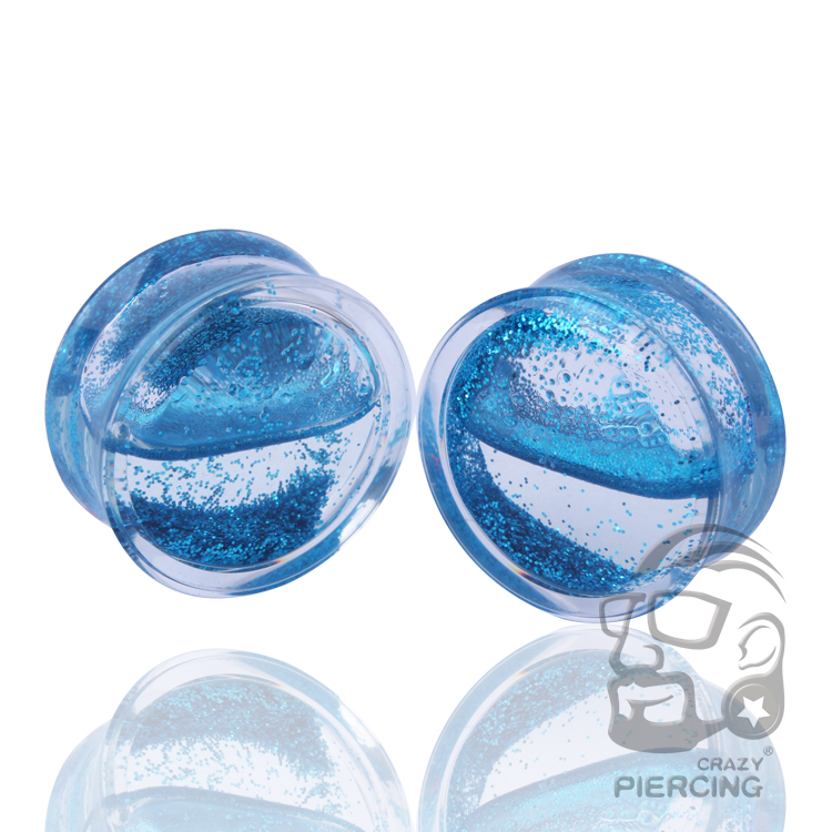 Piercing tunnel acrylique marbled blue