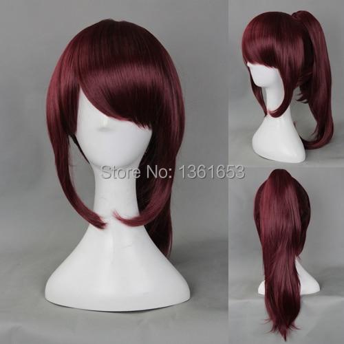 Watobi Плавание клуба Бесплатная! ГОУ Мацуока Косплей парики японского аниме Cos темно-фиолетовый парик женщин волос
