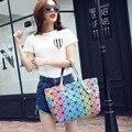 Nueva Bao bao mujeres perla geometría Enrejado de Diamante del bolso de Mano bolsa de hombro Acolchada 3D Rainbow color bolsos de las mujeres famosas brands7 * 8