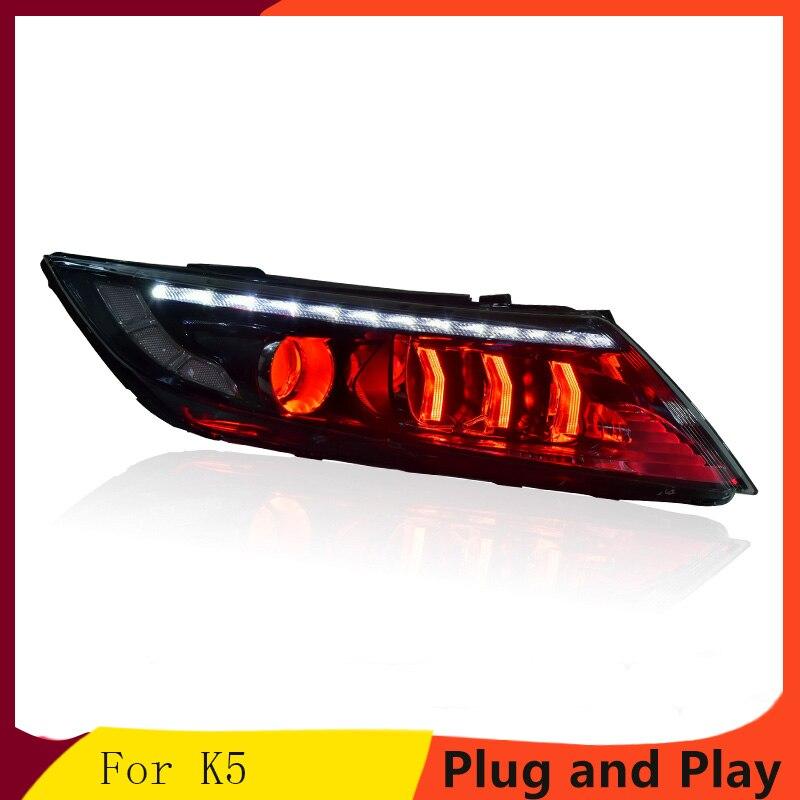 KOWELL Car Styling For  Kia K5Headlights 2014-2015 New Optima LED Headlight LED DRL Bi Xenon Lens High Beam Parking Fog Lamp