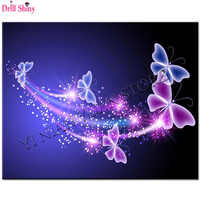 5D DIY Needlework Diamond Embroidery Phantom Butterfly Diamond Painting Cross Stitch Picture Of Rhinestone Full Round Drill