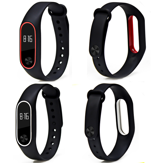 BOORUI Double color mi band 2 accessories pulseira miband 2 strap replacement silicone wriststrap for xiaomi mi2 smart bracelet