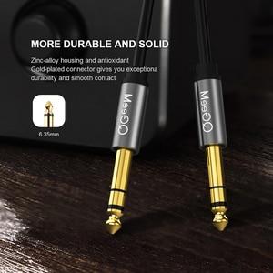 Image 2 - Аудиокабель QGEEM 6,5 мм 6,35 мм разъем 6,35 папа папа Aux кабель 1 м 2 м 3 м для гитарного миксера усилитель басов 6,35 мм Aux кабель