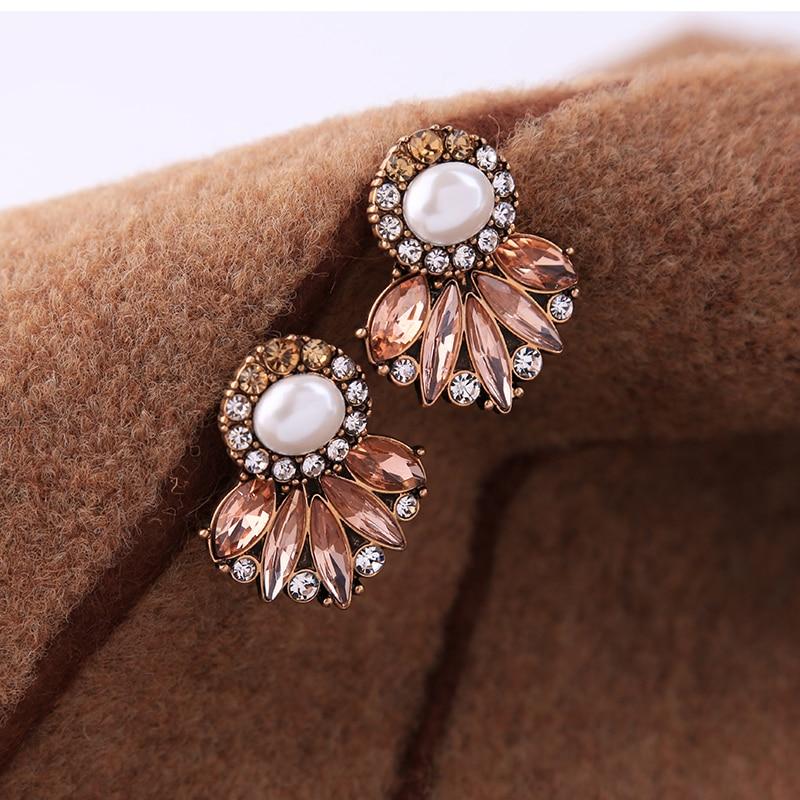 KISS ME Markenaussage Ohrringe New Fashion Simulierte Perle Kristall - Modeschmuck - Foto 6